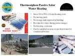 thermosiphon passive solar water heating