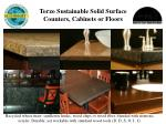 torzo sustainable solid surface counters cabinets or floors