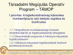 t rsadalmi meg jul s operat v program t mop3