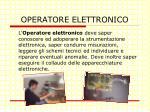 operatore elettronico