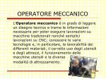 operatore meccanico