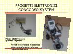progetti elettronici concorso system
