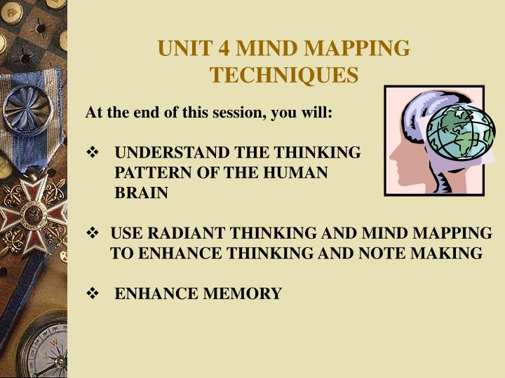 unit 4 mind mapping techniques n.