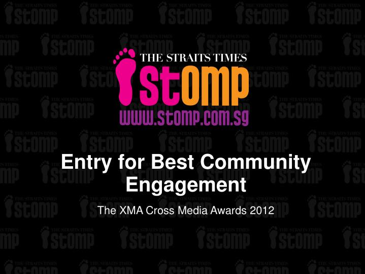 entry for best community engagement n.