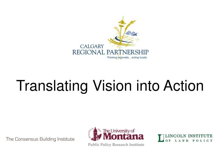 translating vision into action n.