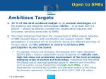 ambitious targets
