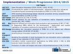 implementation work programme 2014 2015