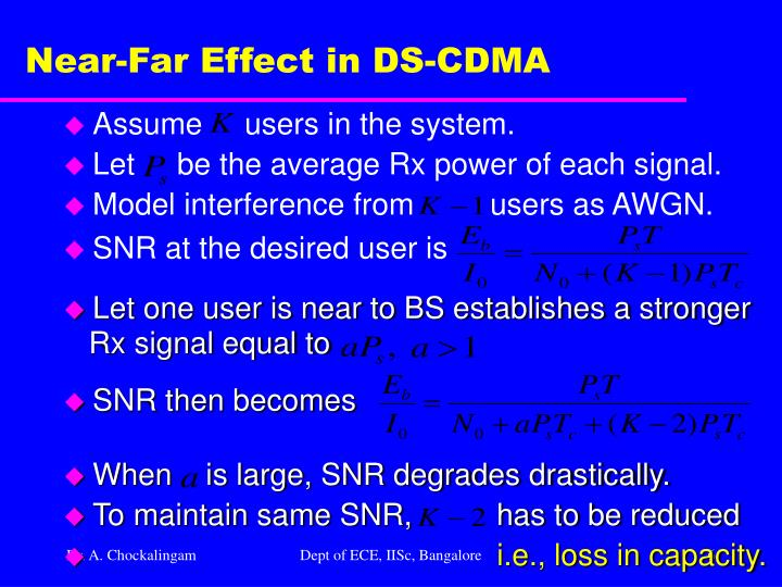 Near-Far Effect in DS-CDMA