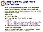 bellman ford algorithm definitions