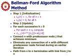 bellman ford algorithm method