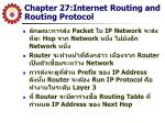 chapter 27 internet routing and routing protocol