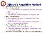 dijkstra s algorithm method