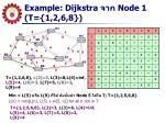 example dijkstra node 1 t 1 2 6 8
