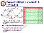example dijkstra node 1 t 1 8