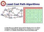 least cost path algorithms4