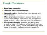 diversity techniques1
