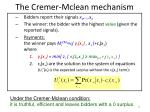 the cremer mclean mechanism