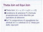 theta join ed equi join