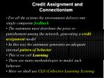 credit assignment and connectionism