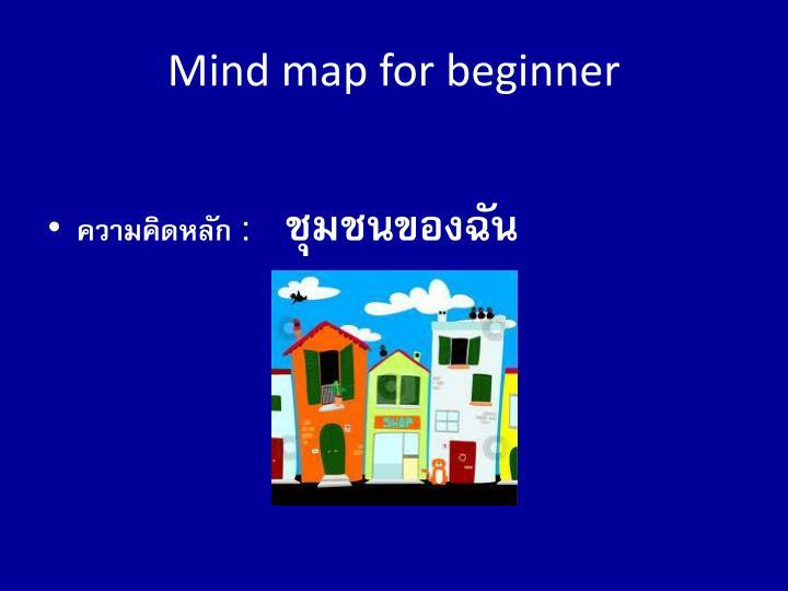 Mind map for beginner