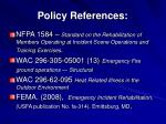 policy references