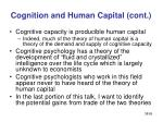 cognition and human capital cont