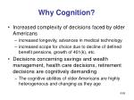 why cognition