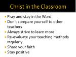christ in the classroom