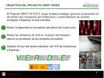 objectius del projecte cenit verde