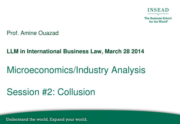 microeconomics industry analysis session 2 collusion n.