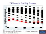 differential fertility patterns