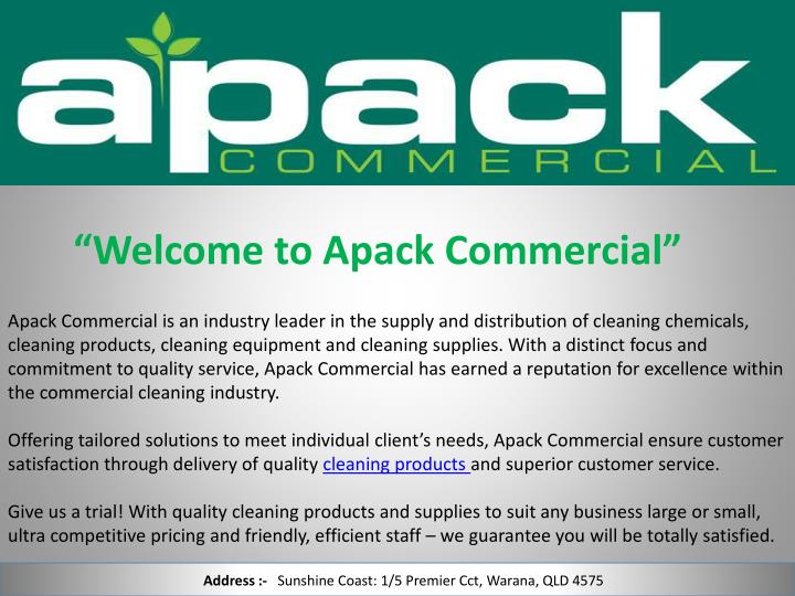 welcome to apack commercial n.