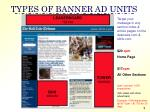 types of banner ad units