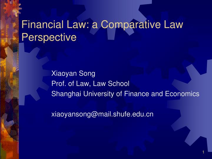 financial law a comparative law perspective n.
