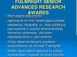 fulbright senior advanced research awards