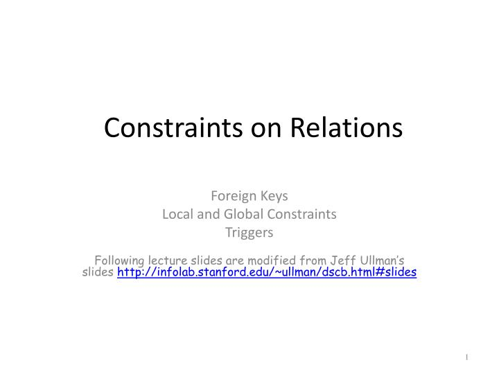 constraints on relations n.