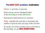 the max cut problem motivation