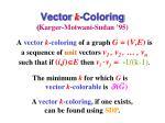 vector k coloring karger motwani sudan 95