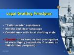 legal drafting principles