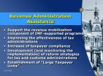 revenue administration assistance