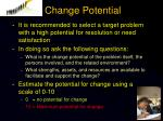 change potential