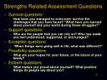 strengths related assessment questions