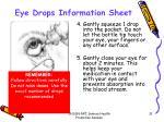 eye drops information sheet1