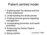 patient centred model
