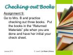 checking out books1