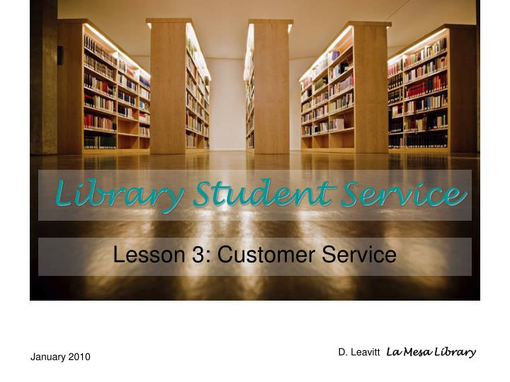 library student service n.