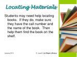 locating materials