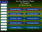 are you smarter than a 4 th grader all about sound