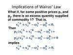 implications of walras law2