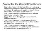 solving for the general equilibrium